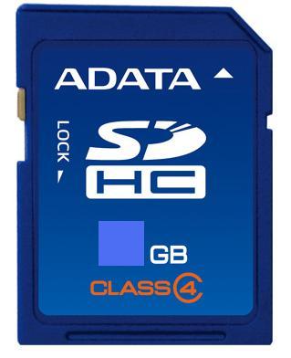 A-DATA SDHC 8 GB Class 4 (ASDH8GCL4-R)