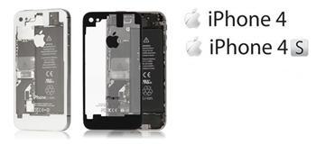 Apple iPhone 4 Zadní Kryt Transparent White