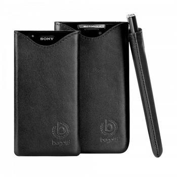 Bugatti Slim Fit Čierne Kožené Pouzdro pro Samsung N7100 Galaxy Note2
