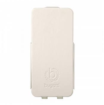Bugatti Ultra Thin Flip Kožené Pouzdro White pro iPhone 5/5S