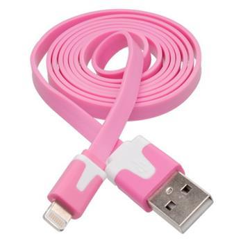 Dátový kábel iPhone 5 Lightning ružový