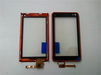Dotyková plocha + sklíčko pre Nokia N8 + rámik orange