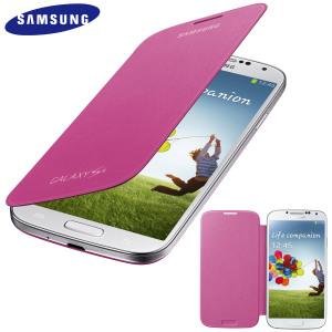 EF-FI950BPE Samsung Flip Pouzdro pro Galaxy S IV (i9500) Pink (EU Blister)