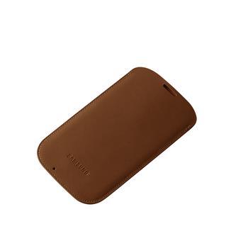 EF-LI950BAE Samsung Kožené Pouzdro pro Galaxy S IV (i9500) Light Brown (EU Blister)