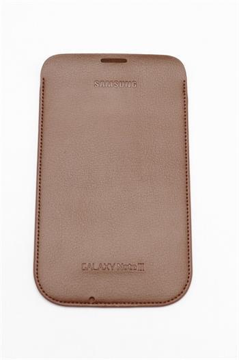 EFC-1J9LD Samsung Kožené Pouzdro pro Note 2 (N7100) Tmavo Brown (EU Blister)