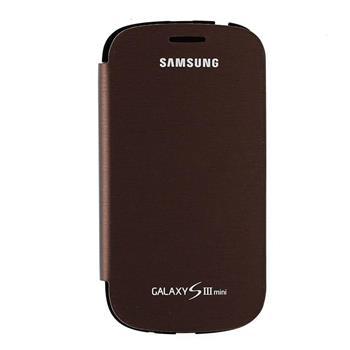 EFC-1M7FAE Samsung Flip Pouzdro pro Galaxy S3mini i8190 Amber Brown (Bulk)