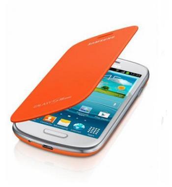 EFC-1M7FOE Samsung Flip Pouzdro pro Samsung Galaxy S3mini i8190/i8195/i8200VE Orange (EU Blister)