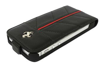 FECFFL5B Ferrari Kožené Flip Pouzdro California pro iPhone 5, 5S Black