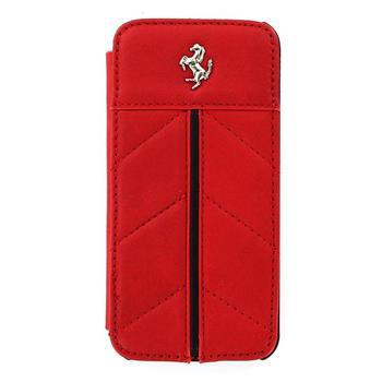 FECFFLBKP5R Ferrari Kožené Book Pouzdro California pro iPhone 5, 5S Red