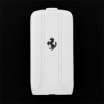 FEFFFLS3FW Ferrari Kožené Flip Pouzdro Biele pro Samsung Galaxy S3 (i9300/S3 i9301 Neo)