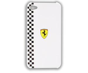 FEFOP4W Ferrari Formula Zadní Kryt White pro iPhone 4/4S