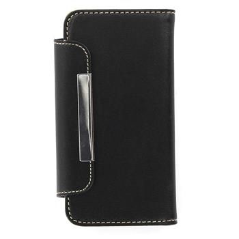 ForCell Portfelik Flip Pouzdro Black pro iPhone 5