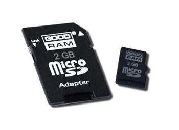 GOODRAM micro SD 2 GB + adapter Retail 10 (5908267912744)