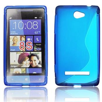 Gumené puzdro HTC 8S, Modré