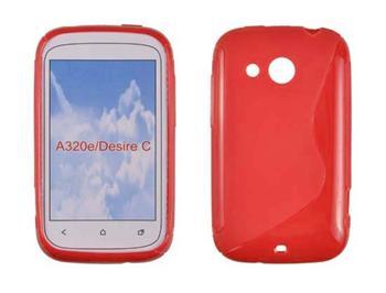 Gumené puzdro HTC Desire C, Oranžové