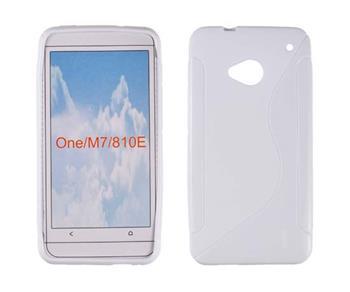 Gumené puzdro HTC One M7 biele