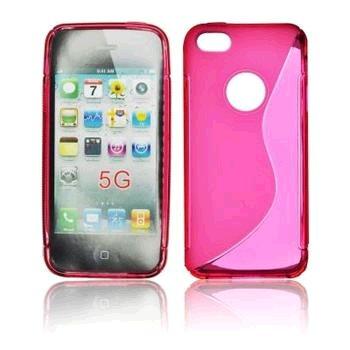 Gumené puzdro iPhone 5/5S/SE ružové