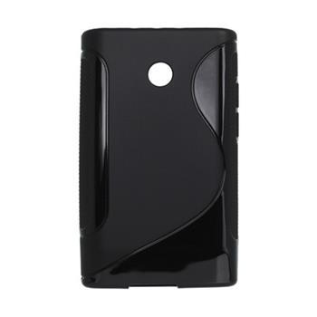 Gumené puzdro LG E400 Optimus L3 čierne