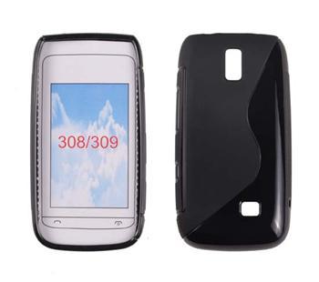 Gumené puzdro Nokia Asha 308/309 Čierna