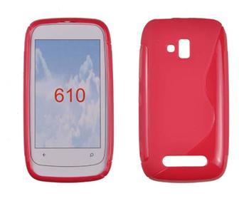 Gumené puzdro Nokia Lumia 610 červené