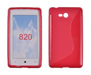 Gumené puzdro Nokia Lumia 820 Červené