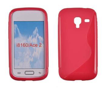 Gumené puzdro Samsung Galaxy Ace 2 i8160 Červené