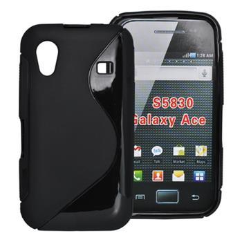 Gumené puzdro Samsung Galaxy Ace S5830 čierne