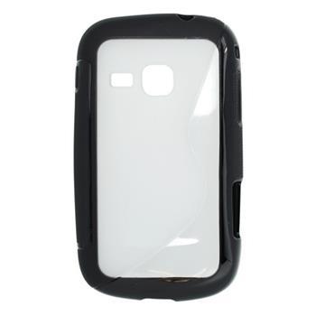 Gumené puzdro Samsung Galaxy Mini 2 S6500 čierne - transparent