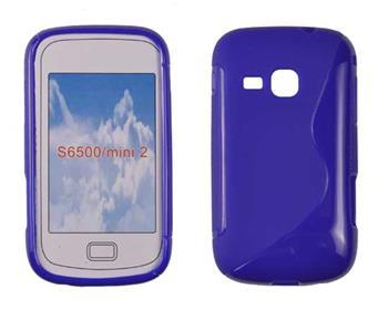 Gumené puzdro Samsung Galaxy Mini 2 S6500 modre