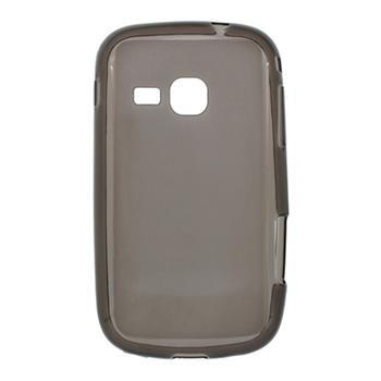 Gumené puzdro Samsung Galaxy Mini 2 S6500 šedá transparentná