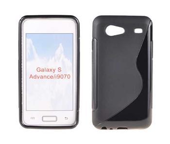 Gumené puzdro Samsung Galaxy S Advance i9070 Čierne