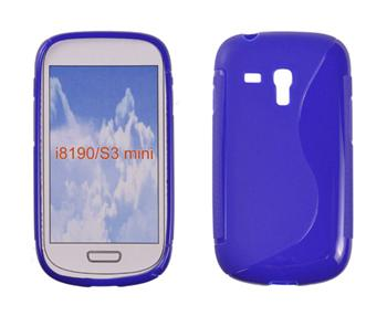 Gumené puzdro Samsung Galaxy S3 Mini i8190, S3 mini i8200 VE Modré