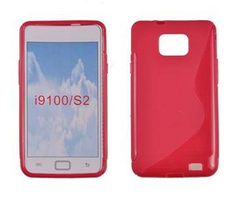 Gumené puzdro Samsung Galaxy SII i9100 Červené