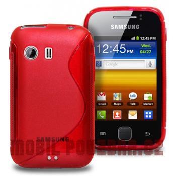 Gumené puzdro Samsung Galaxy Y S5360 červene