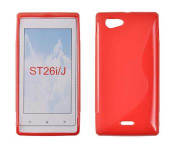 Gumené puzdro Sony Xperia J ST26i Oranžové