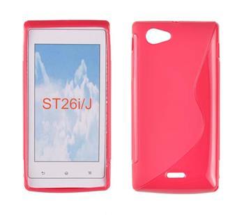 Gumené puzdro Sony Xperia J ST26i Tmavo ružová