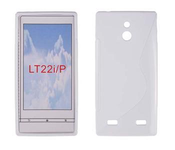 Gumené puzdro Sony Xperia P LT22i Biele