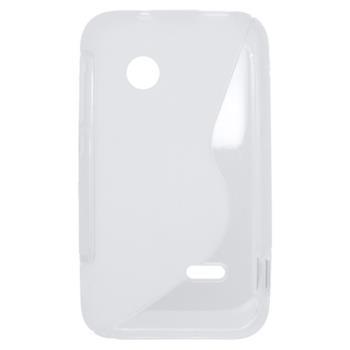 Gumené puzdro Sony Xperia Tipo ST21i biele transparentné