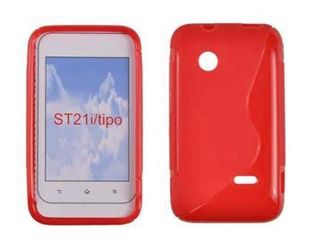 Gumené puzdro SonyXperiaTipo ST21i Oranžové