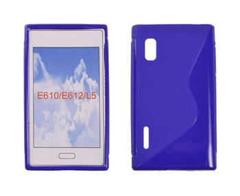 Gumené puzdro Swift LG L5/E610 Modré