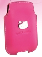 Hello Kitty Kožené Pouzdro Pink vel. L