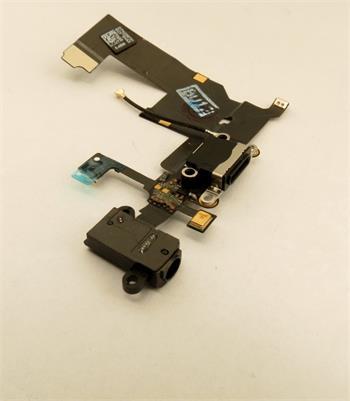 iPhone 5 Dobíjecí + Audio Konektor - Flex Kabel Black