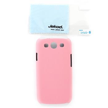 JEKOD Shield Kožený Zadní Kryt Pink pro Samsung i9300