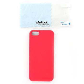 JEKOD Shield Kožený Zadní Kryt Red pro iPhone 5/5S