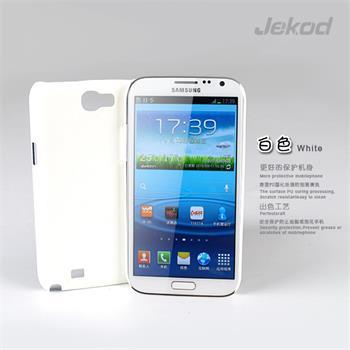 JEKOD Shield Kožený Zadní Kryt White pro Samsung N7100 Galaxy Note2