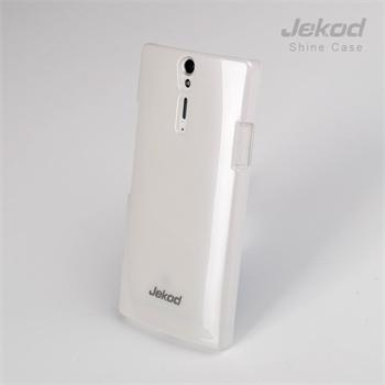 JEKOD Shiny Pouzdro White pro Sony LT26i Xperia S + ochranná fólia na displej