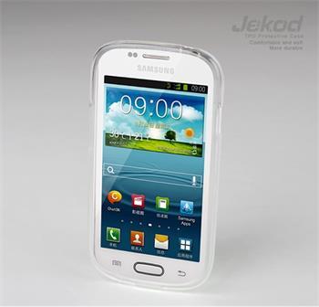JEKOD TPU Ochranné Pouzdro Biele pro Samsung i8190 Galaxy S3mini, S3 mini i8200 VE