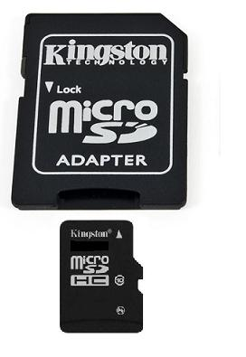 Kingston micro SDHC 16 GB Class 10 + adaptér (SDC10/16GB)
