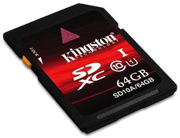 Kingston SDXC 64 GB Class 10 (SDX10V/64GB)