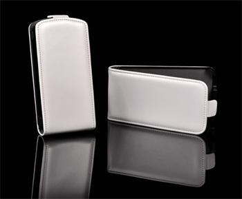 Knižkové puzdro Slim Samsung Galaxy Note 2, N7100, Biele